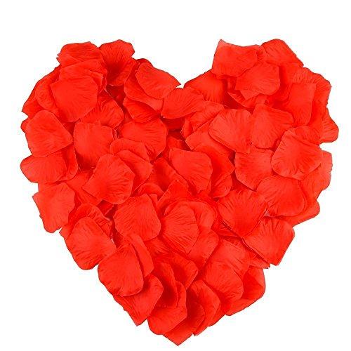 Cupcinu 1000 pétalos de rosa de seda con pétalos de flores artificia