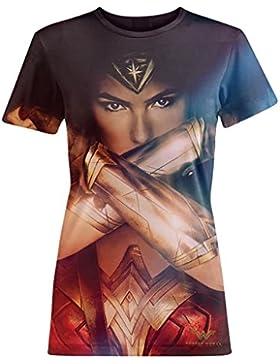 Wonder Woman - Camiseta modelo Brazaletes de la Justicia para mujer