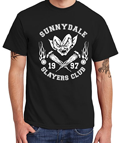 -- Sunnydale Slayers Club -- Boys T-Shirt Schwarz