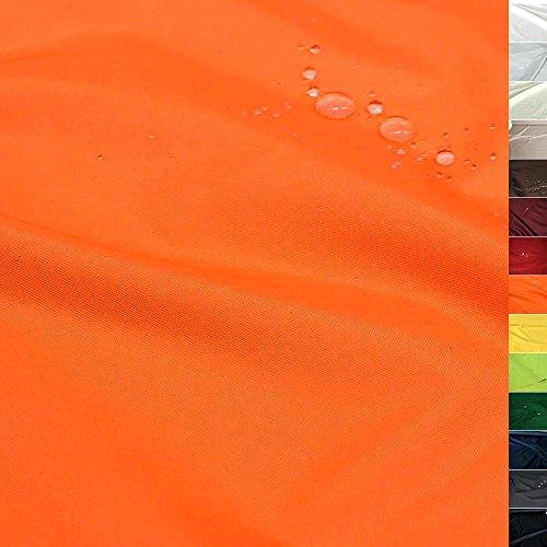 TOLKO Sonnenschutz Nylon Planen-Stoff Meterware - 180 cm Breit, Wasserdicht, Reißfest und Blickdicht als Universal Outdoorstoff zum Nähen (Signal-Orange)