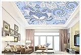 LHDLily Wand Stricker Tapete Der 3D Tapete Frische Ethnische Purpurrote Decken Wohnzimmer Schlafzimmer TV Sofa Hintergrund Wand Landschaft Wandbild 200Cmx150Cm|(78Inx59In)