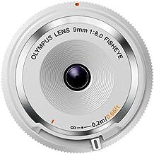 Olympus 9 mm f:8 Fisheye - Objetivo para micro cuatro tercios (Diámetro de filtro 56 mm), blanco