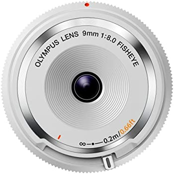 Olympus BCL-0980 Objectif pancake Fisheye 9 mm Blanc