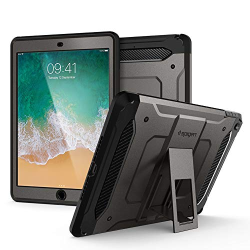 Spigen iPad 9.7 Zoll 2018/2017 Hülle, Tough Armor TECH entworfen für iPad hülle 9.7 Zoll, iPad 2018/2017 Case Cover - Gunmetal