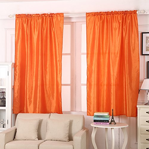 orange living room curtains. AIHOME Thermal Insulated Top Eyelet Blackout Curtains Polyester Blend for  Bedroom Living Room Balcony Orange Amazon co uk