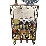 QIANGZI Eisen Weinregal Mit Glashalter 20 Flaschen Schwarz Weiß Lagerregal Ständer Für Küche Wohnzimmer Speisekammer Keller (Farbe : Schwarz)