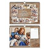 Fotokalender Wandkalender 2019 individuell mit Ihren eigenen 12 Fotos DIN A4 297x210 mm quer - Rustikal