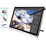 "Huion GT-220 - Tableta gráfica de 21.5"" (5080 LPI, 233 RPS, 5 ms, VGA/DVI/HDMI), blanco"