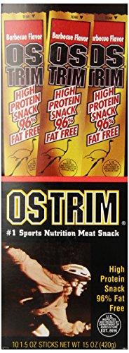 Ostrim-sticks (Ostrim Barbecue Flavor Snack Sticks, 1.05 oz., (Pack of 10) by Ostrim)