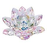 Sumnacon Fleur de Lotus Cristal - pour la Décoration dans la Maison, Idéal Cadeau pour Anniversaire, Les Fêtes(130mm Multicolor)