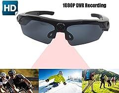 Idea Regalo - JOYCAM Occhiali da sole con Full HD 1080P Telecamera Polarizzata UV400 Fotocamera Registrazione Occhiali Indossabili Camcorder per gli Sport All'Aperto
