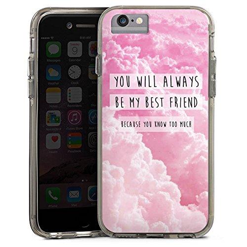 Apple iPhone X Bumper Hülle Bumper Case Glitzer Hülle Freunde Friends Bf Bumper Case transparent grau