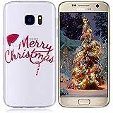 Coque Samsung Galaxy S7,Samsung Galaxy S7 Etui TPU,ZHXMALL Xmas Tree Santa Premium Flexible Souple Silicone Ultra Mince Lége Transparent Case Slim Gel Couverture Housse Protection Anti rayures AntiChoc Pare-chocs Coque pour Samsung Galaxy S7 - Noël