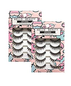 JIMIRE HELLO BEAUTY False Eyelashes Multipack Demi Wispies False Lashes 2 Packs