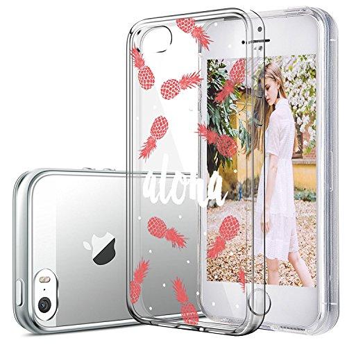 Custodia iPhone SE 5S Cover, JEPER Ultra Thin Slim Flessibile Crystal Clear Trasparente Premium TPU Silicone Gel Assorbimento Urto Anti-Scratch Case per Apple iPhone 5 09