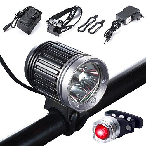 1x USB wiederaufladbare Fahrrad Licht LED wasserdichte Frontleuchte Rücklicht