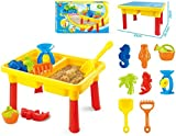 #3: Toys Bhoomi 2-in-1 Beach Sand & Water Play Table for Kids - Included 8 Accessories