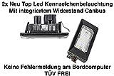 2x LED SMD Kennzeichenbeleuchtung TÜV FREI