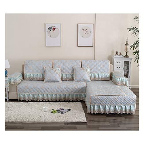 MISSMAO_FASHION2019 Sofaüberwurf Sofaschoner für Ecksofa,Couch Abdeckungen rutschfest Sofabezug Schützen vor Haustiere und Kindern Atmungsaktiv Blau1 70x240cm