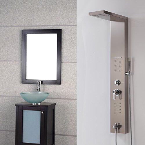 Galvanik Retro Wasserhahn Luxus Wasserfall & Niederschlag Messing Dusche Spalte Dusche Panel Whirlpool Mixer W/Körper, Massagedüsen, Multi (Niederschlag Brunnen)