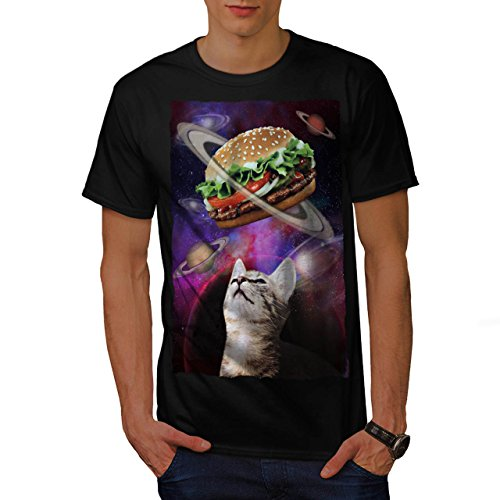 space-burger-cat-fun-kitten-eat-men-new-black-l-t-shirt-wellcoda