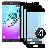 NEVEQ 3 x Samsung Galaxy A5 2016 (Black) Panzerglas, Schutzfolie aus Hochwertigem gehärtetem Glas für Samsung Galaxy A5 (2016) Full Screen Black (5.2 in) Zoll-Display, 9H-Härte Displayfolie.