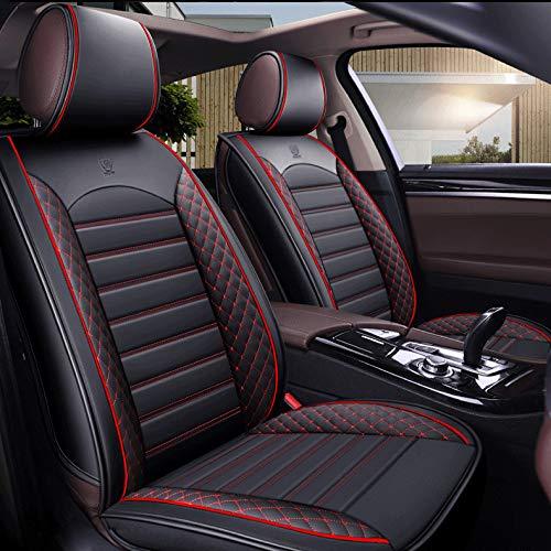 Autositzbezug-Set für 5-Sitzer Automotive Pick Up SUV Truck Kunstleder Sitzschutz Autoinnenausstattung 5 Farben (rot) (Suv Sitzbezüge)
