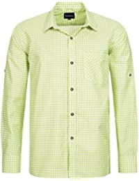 Trachtenhemd für Trachten Lederhosen Freizeit Hemd Lindgrün-kariert Gr. S-XXXL