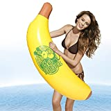 DMAR 110cm/43 Aufblasbare Banana Riesen Pool Float Wasser Spielzeug Matratze Meer Beach Party Kid