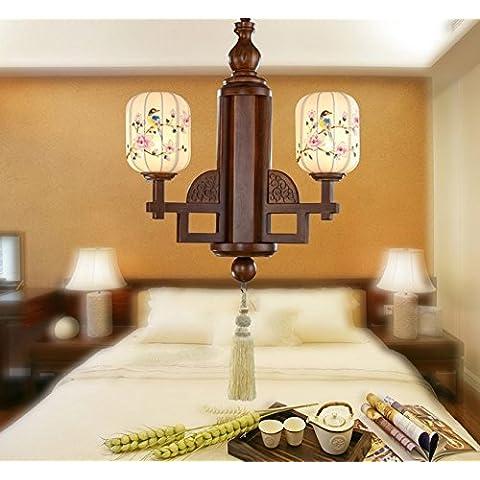 FEI&S salotto cinese lampadario di seta dipinto a mano lo studio del tessuto di solido legno sala da pranzo lampadario