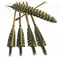 Bambou Traditionnel Tir à L'arc Recourbé Flèche Flèches En Bambou Véritable Poids Plume De Fleurs En Plumes Dédié 12pcs