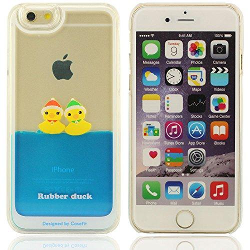 Canard 3D Différentes couleurs fluides plastique liquide silicone souple Housse Coque de protection pour Apple iPhone 6 4.7 inch(trois canard) Canard de Noël