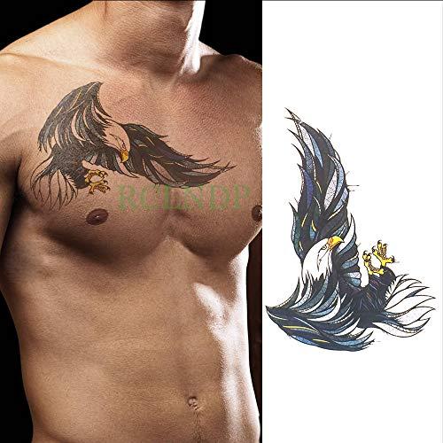 Tzxdbh impermeabile autoadesivo del tatuaggio temporaneo ali d'aquila falso tatto flash tatoo posteriore gamba braccio petto pancia grande formato per le donne ragazza uomini