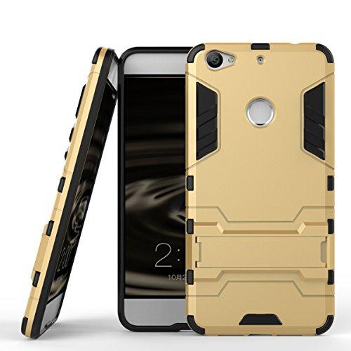 Qiaogle Telefon Case - Shockproof TPU + PC Hybrid Ständer Schutzhülle Case für Letv 1S/ LeTV X500/ LeTV LE1S/ Le 1S Helio X10 Turbo (5.5 Zoll) - HK03 / Golden