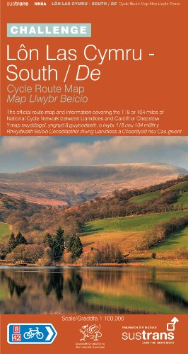Lon Las Cymru South - Sustrans Cycle Route Map - NN8A: The Official Route Map and Information Covering the 118 or 104 Miles of the National Cycle ... or Chepstow (Sustrans National Cycle Network)