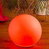 LILIMO LED-Leuchte KUGEL multi-color Ø 30cm, mit Fernbedienung, 220V, Aussenleuchte Kugelleuchte Gartenlampe