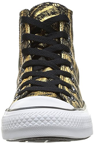 Converse, Chuck Taylor All Star Femme Animal Print, Sneaker, Donna nero (Schwarz (81 NOIR/OR))
