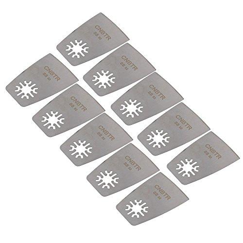 cnbtr 52mm Remasuri Universal Edelstahl-Flachschaber oszillierendes Multi Tool Sägeblätter Set von 10