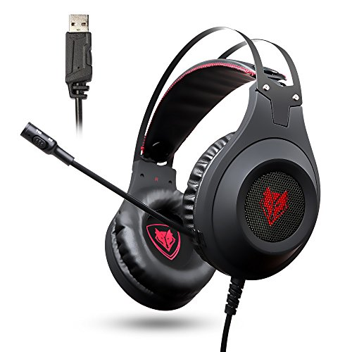 NUBWO PC Gaming Headset, N2 USB Gaming Headphones mit Rauschunterdrückungsmikrofon, Over-Ear Kopfhörer für PC /PS4/ Mac/Laptop -Black Superior-digital-headset