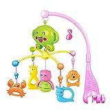 tomnew Musik Baby Mobile, Baby Infant Bettwäsche hängende Glocken Animal Rotation Glocken Spielzeug, Musik Box Halter Cartoon Tier Kinderbett Kinderbett Kinderzimmer Mobiles für Mädchen und Jungen