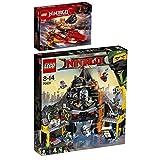 LEGO Ninjago 2er Set 70631 70638 Katana V11 + Garmadons Vulkanversteck - Leg