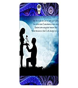 ColourCraft Loving Couple Design Back Case Cover for SONY XPERIA C5 ULTRA