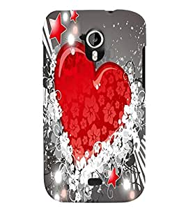 Fuson Heart Pattern Back Case Cover for MICROMAX A116 CANVAS HD - D3702