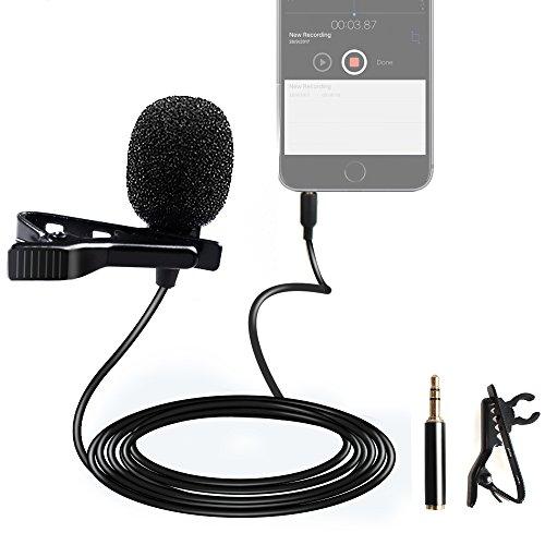 Maono micrófono lavalier 4–Adaptador de 3pines de solapa micrófono manos libres Clip en entrevista grabación de voz para DSLR Cámara, amplificador de la voz, iPhone, Android, Smartphone, transmisor inalámbrico, PS4, YouTube Live