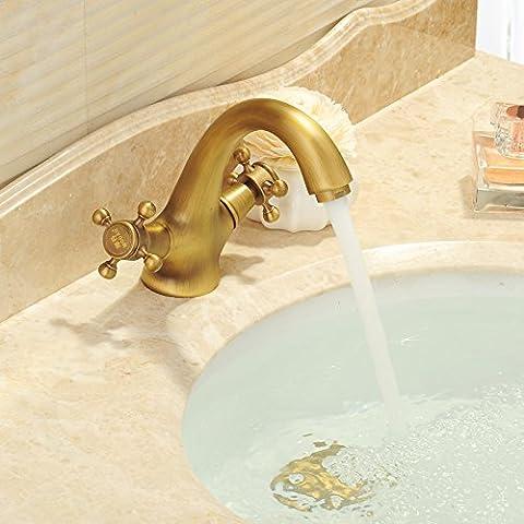 Orgsev Bacino di antiquariatoContinental-Brass tocca lavaggio a caldo e a freddo BasinMixerBathroom