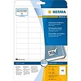 Herma 4346 Movables Etiketten ablösbar, wieder haftend (45,7 x 21,2 mm, DIN A4 Papier matt, weiß) 1.200 St. Preisetiketten auf 25 Blatt, bedruckbar