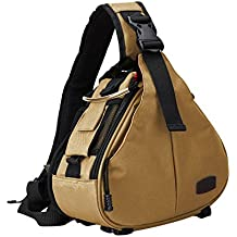 Caden Cross Triangle Sling Shoulder Messenger Camera Bag Compact Camera SLR Case Divisores acolchados extraíbles para DSLR/SLR Sony Canon Nikon 1 Camera 2 Lens Tripod