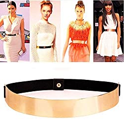 Sleek Gold Mirror Belt By Fling Fashions