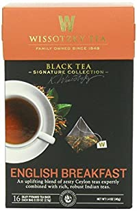 Wissotzky Tea Signature Collection English Breakfast Tea, Mulit-Pack, 16 - 1.41 Ounce Bags per Pack, 2 Packs, 32 Total Bags