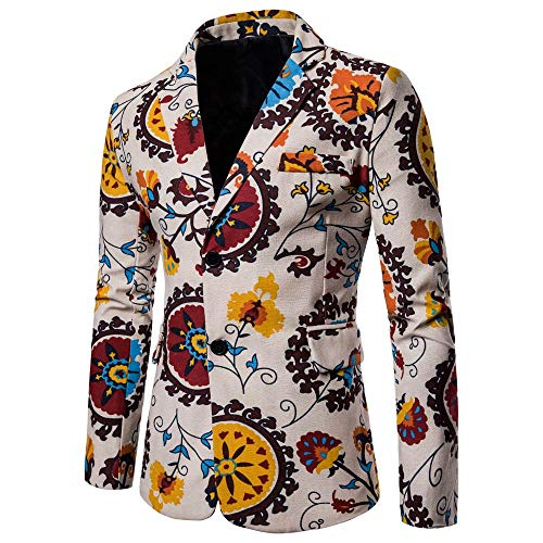 KPILP Strickjacke Herren Sakkos Dashiki Jacke Mode Casual Daily 2018 Printed Suit Winterjacke Langarm Gedruckt Mantel Herbst Winter -